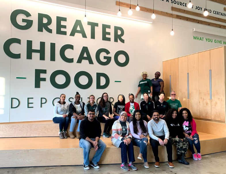 Honors College service trip to the Greater Chicago Food Depository